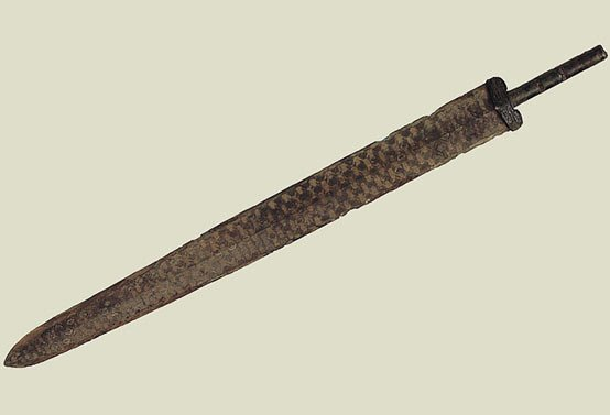 A bronze Shang dynasty sword