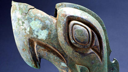 Bronze Dragon Head in Sanxingdui China