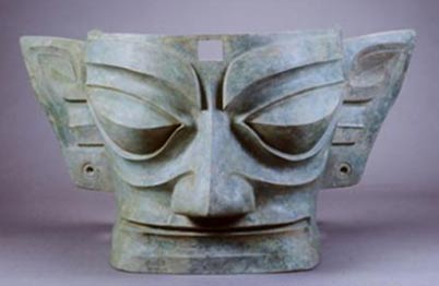 A bronze mask of Sanxingdui