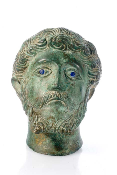 Image of another Roman bronze bust representation of Marcus Aurelius, the last emperor of the Pax Romana, which was found in Northamptonshire, also in the United Kingdom. (portableantiquities / CC BY 2.0)