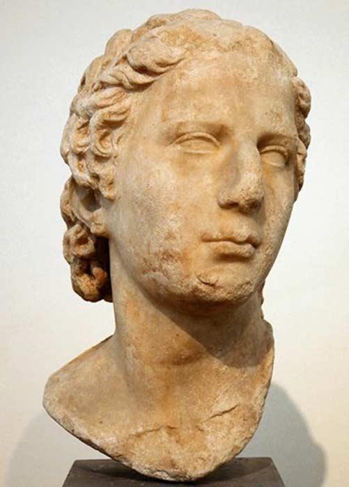 A bust of Aristonicus (Eumenes III).