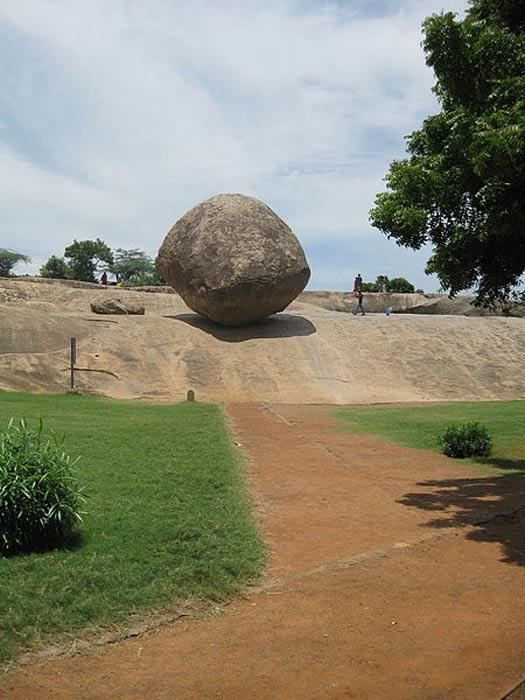 Krishna's butter ball at Mahabalipuram.