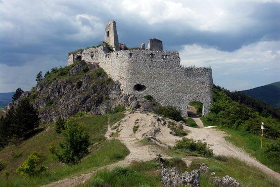 Čachtice castle in Slovakia