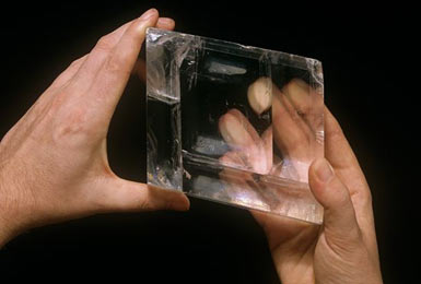 The calcite crystal found on an Elizabethan ship