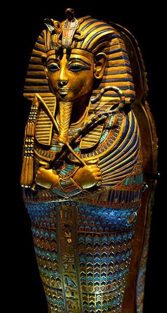 A canopic coffinette of king Tutankhamun. It was discovered from his intact KV62 tomb.