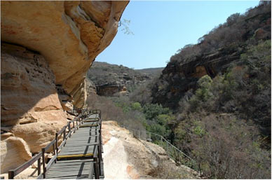 Rock shelters in Serra Da Capivara National Park