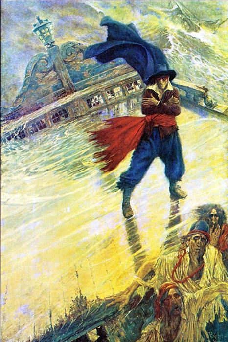 Illustration of captain Hendrick van der Decken
