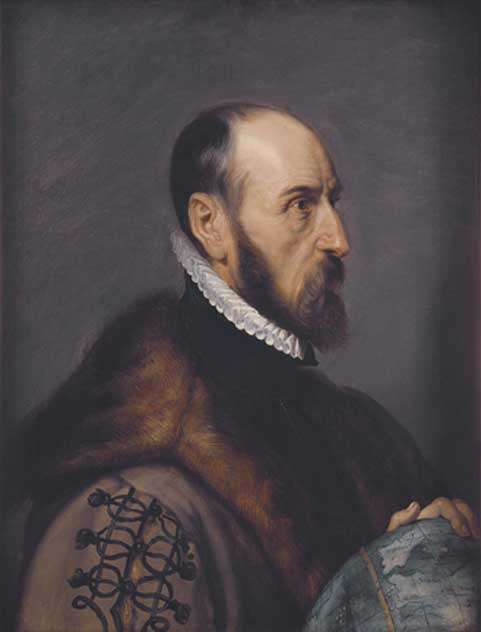 The cartographer Abraham Ortelius by Rubens.