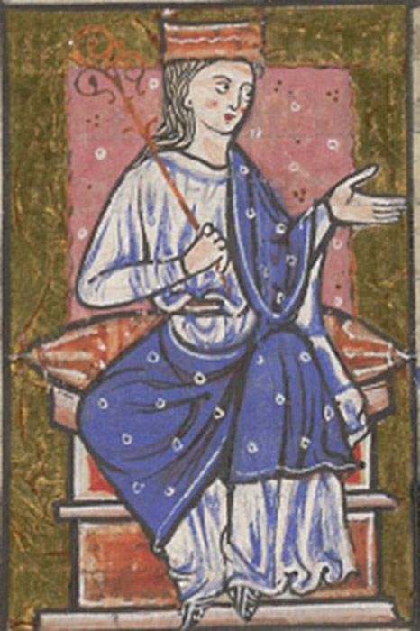 Æthelflæd as depicted in the cartulary of Abingdon Abbey