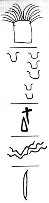 Examples of carved symbols found within.