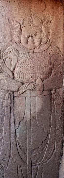 One of the carvings at the tomb, Baisha town, Chongqing, China