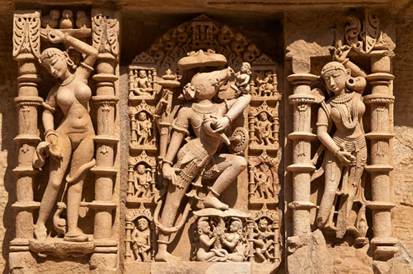 The exquisite carvings of the Rani-Ki-Vav