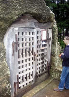 Entrance to St. Daniel's cave.