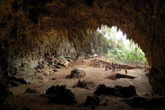 Cave where the remains of Homo floresiensis were discovered