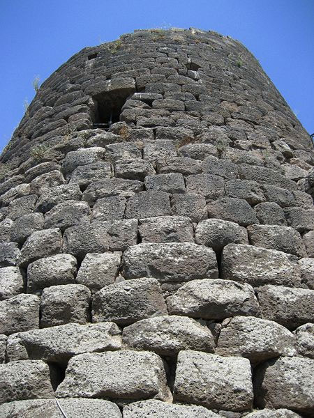 The central tower of the Santu Antine megalith.