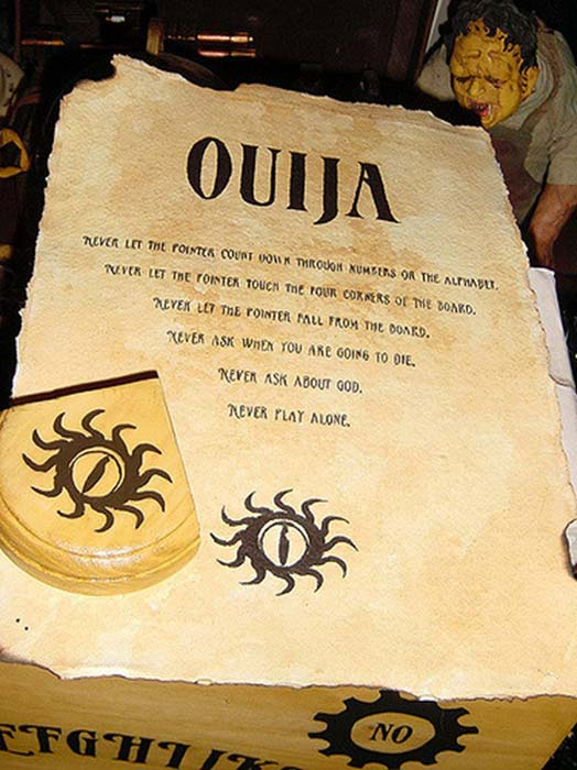 20th century Ouija Board 'Rules'