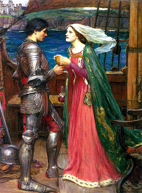During the 12th century, Arthur's character began to be marginalized by the accretion of Arthurian legends such as that of Tristan and Iseult, pictured here. (Luca Z. / Public Domain)