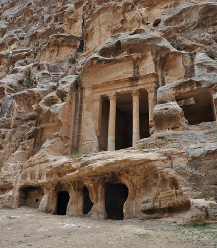 Cisterns at the Nabataean city of Little Petra