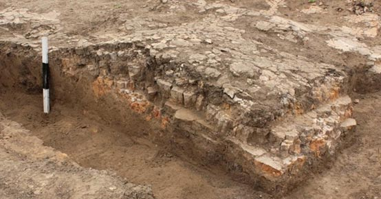 Clay platform found in the temple