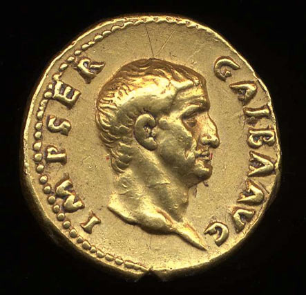 A coin from the brief reign of Galba
