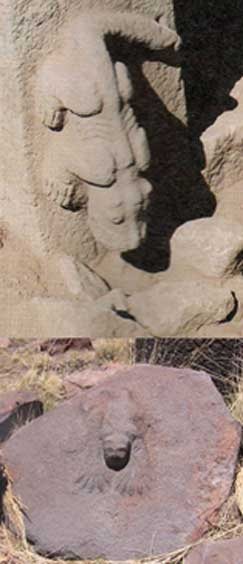 Top: Gobekli Tepe relief. Bottom: Cutimbo, Peru.