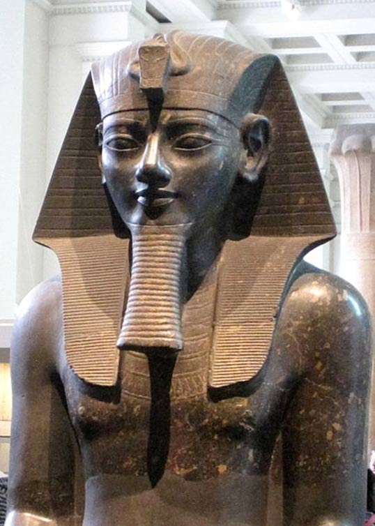A colossal statue of Amenhotep III in the British Museum