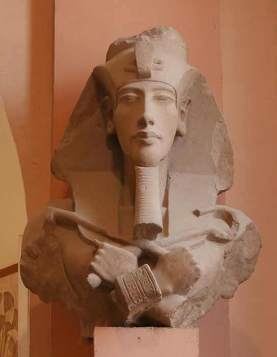 Broken colossal statue of Akhenaten in the Amarna art style. (FAPAB Research Center)