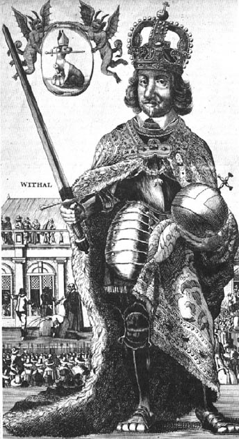 A contemporaneous satirical view of Oliver Cromwell as a usurper of monarchical power. (Kim Traynor / Public Domain)