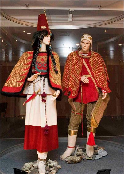 The reconstruction of the costumes made by the experts from Hermitage Museum.