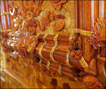 Spectacular craftsmanship in the reconstructed Amber Room