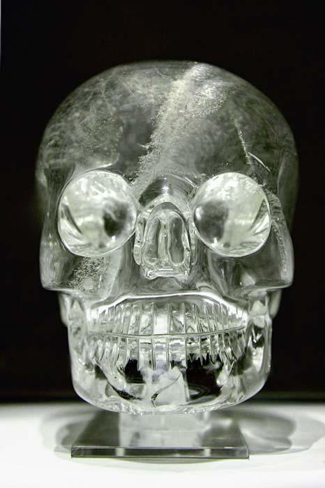 La calavera de cristal del Museo Británico, de dimensiones similares a la calavera más detallada de Mitchell-Hedges. (Rafał Chałgasiewicz / CC BY 3.0)