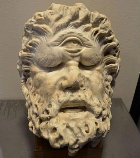 A 1st century AD head of a cyclops from the Roman Colosseum. (Sweetpool50 / CC BY-SA 4.0)