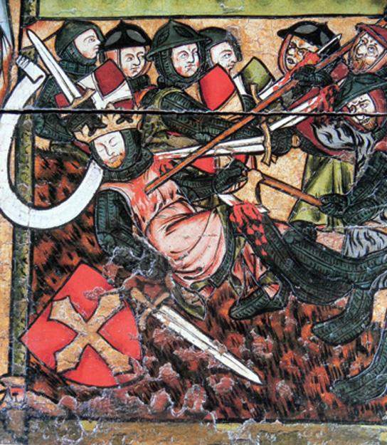 The death of King Olaf.