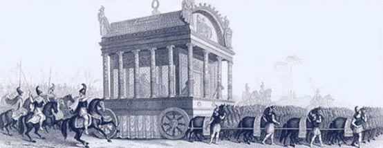 A 19th century depiction of Alexander's funeral procession based on a description by Diodorus