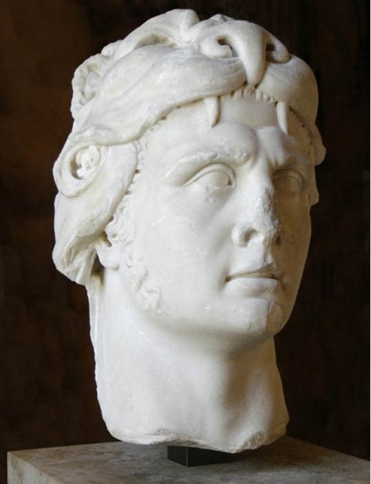 A depiction of King Mithridates VI of Pontus