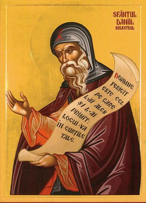 A depiction of St. Daniel the Hesychast.
