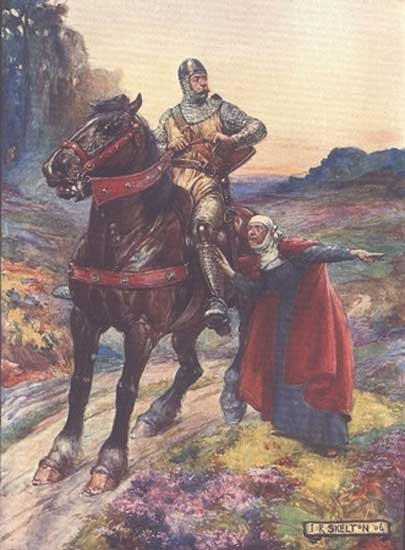 A depiction of Wallace from H E Marshall's 'Scotland's Story', published in 1906.