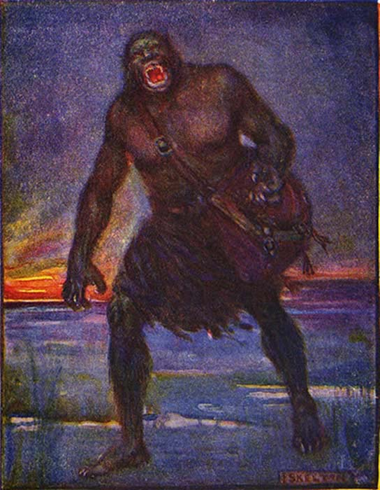 A depiction of what Grendel may have looked like.