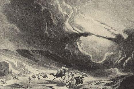 devastating sandstorm - Artistic impression