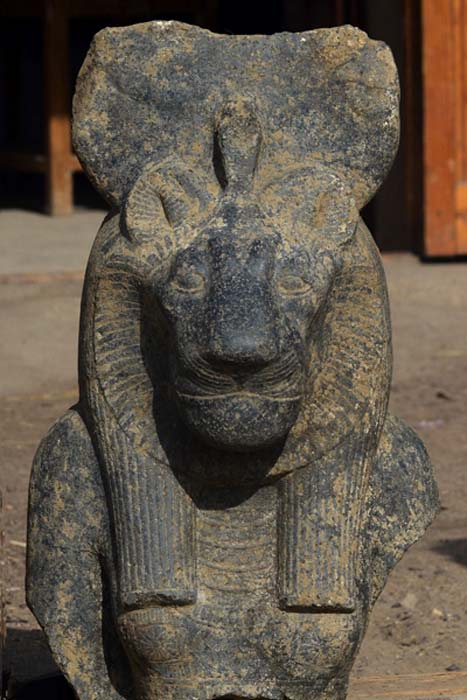 One of the recently discovered busts of Sekhmet
