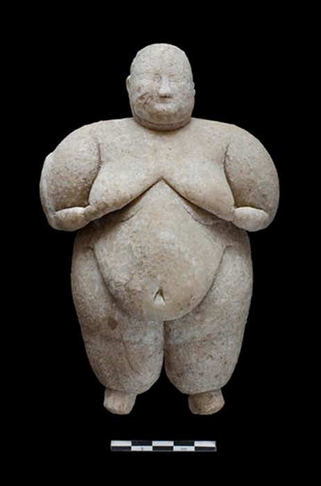 Photo of the recently discovered figurine.