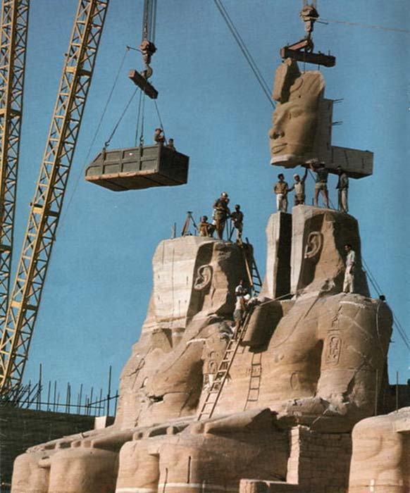 The dismantling and reassembly of the Abu Simbel task was a massive feat of engineering