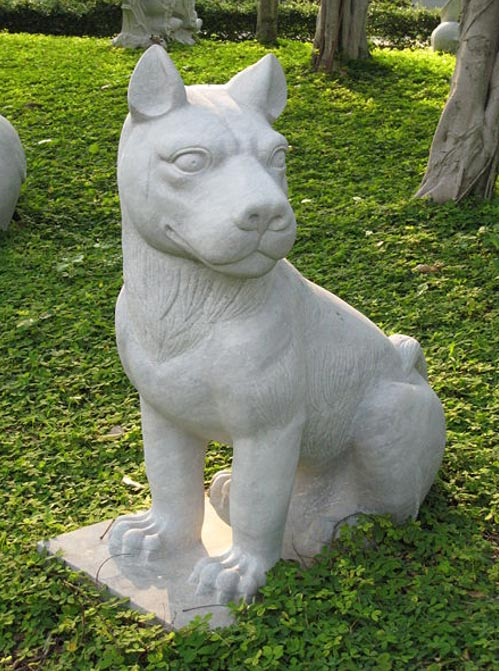 A dog statue in the Kowloon Walled City Park in Kowloon City, Hong Kong.