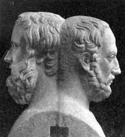 A double bust of Herodotus and Thucydides. Wikimedia Commons