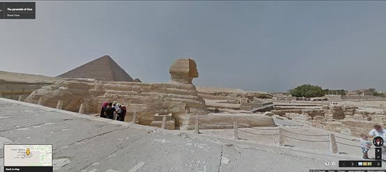 To the east of the pyramids sits the Great Sphinx