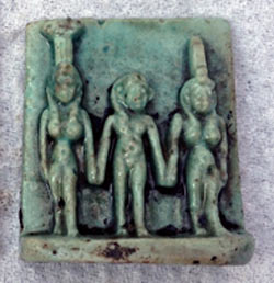Amulet Depicting the trinity of Gods