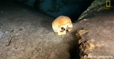 Elongated skulls found in Maya underwater cave