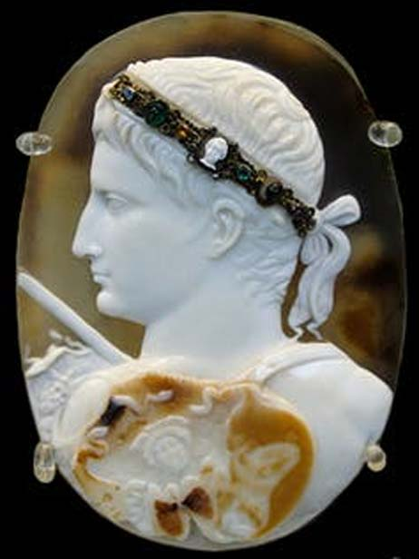 Cameo of the emperor Augustus.