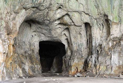 One of the entrances into Devetashka Cave