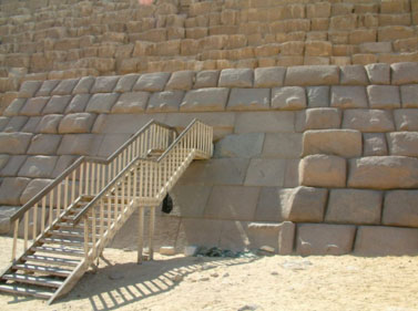 The entrance to the Third Pyramid of Giza